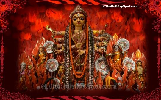 Maa Kali Hd Wallpaper 1080p Durga Puja Wallpaper Wallpapers From Theholidayspot