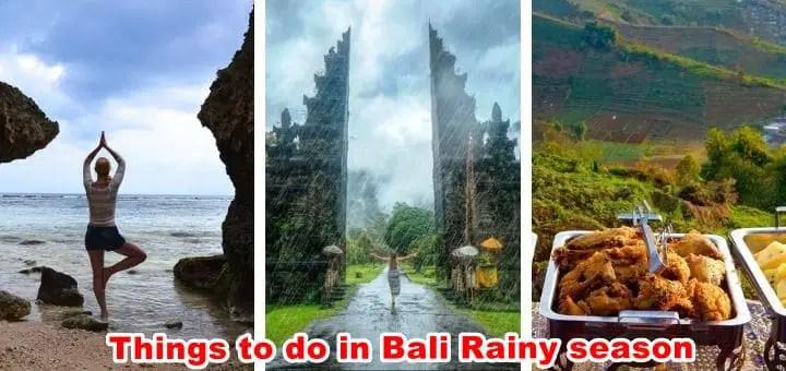 Things to do in Bali rainy season