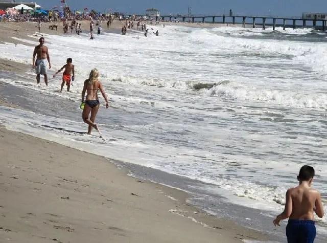 Belmar beach in  New Jersey United States