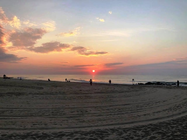 Ocean Grove beach in New Jersey United States