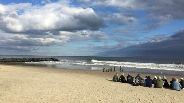 Spring lake beach New Jersey United states