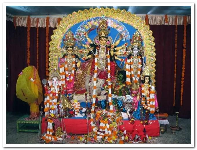 Ramakrishna Math and Mission Durga puja in Khar