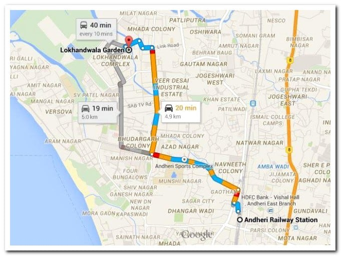 How to reach Lokhandwala Pujo Garden