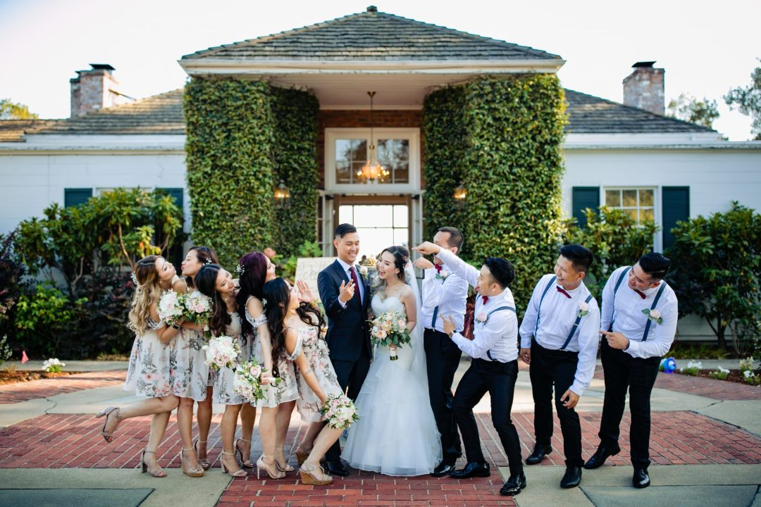 Hollins House Bridal Party by Tyler Vu