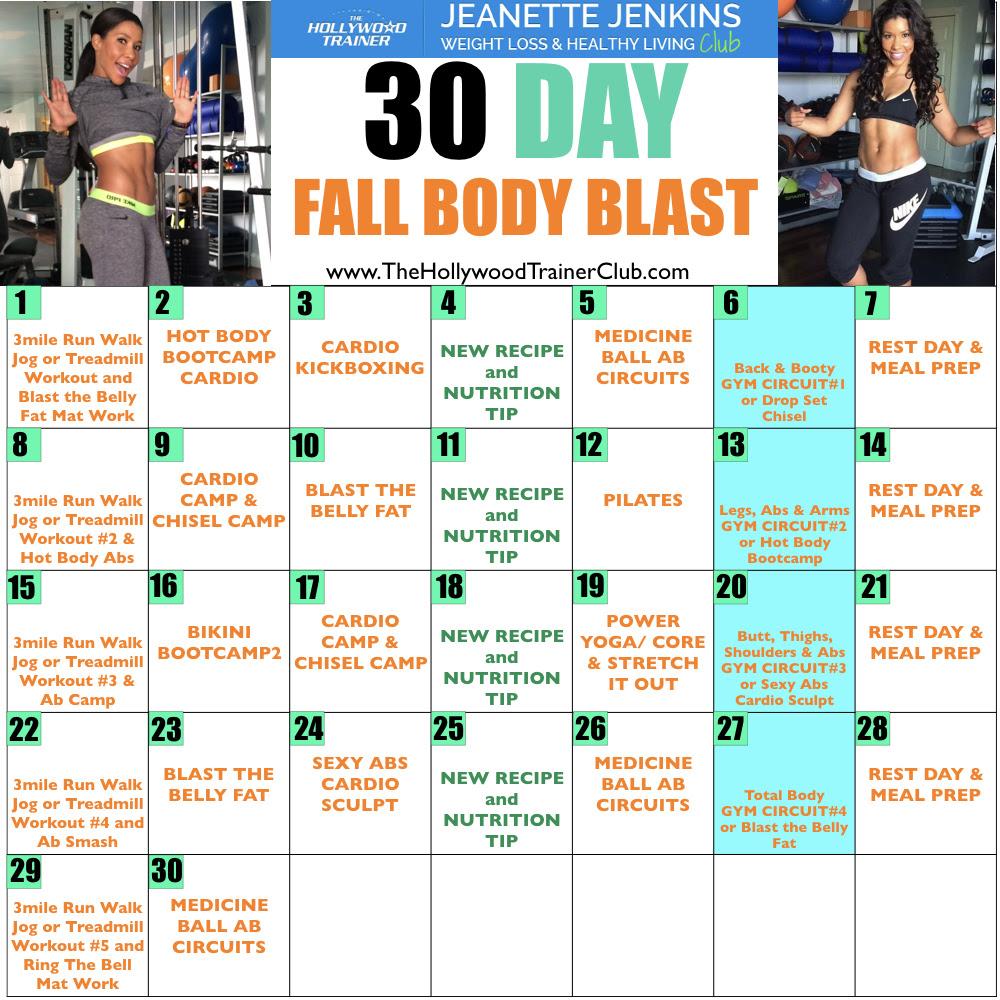 30 day fall body