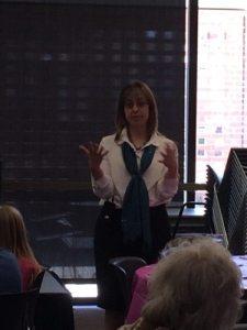 Sara speaking