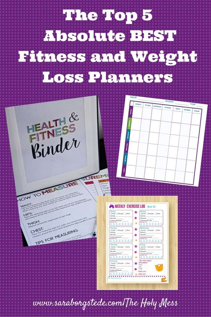 The Top 5 Absolute BEST Fitness and Weight Loss Planners