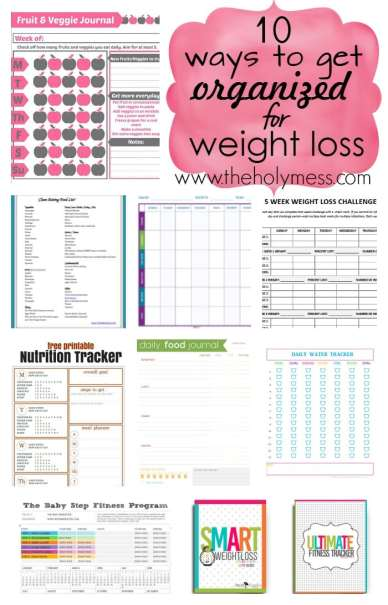 10 Ways to Get Organized for Weight Loss
