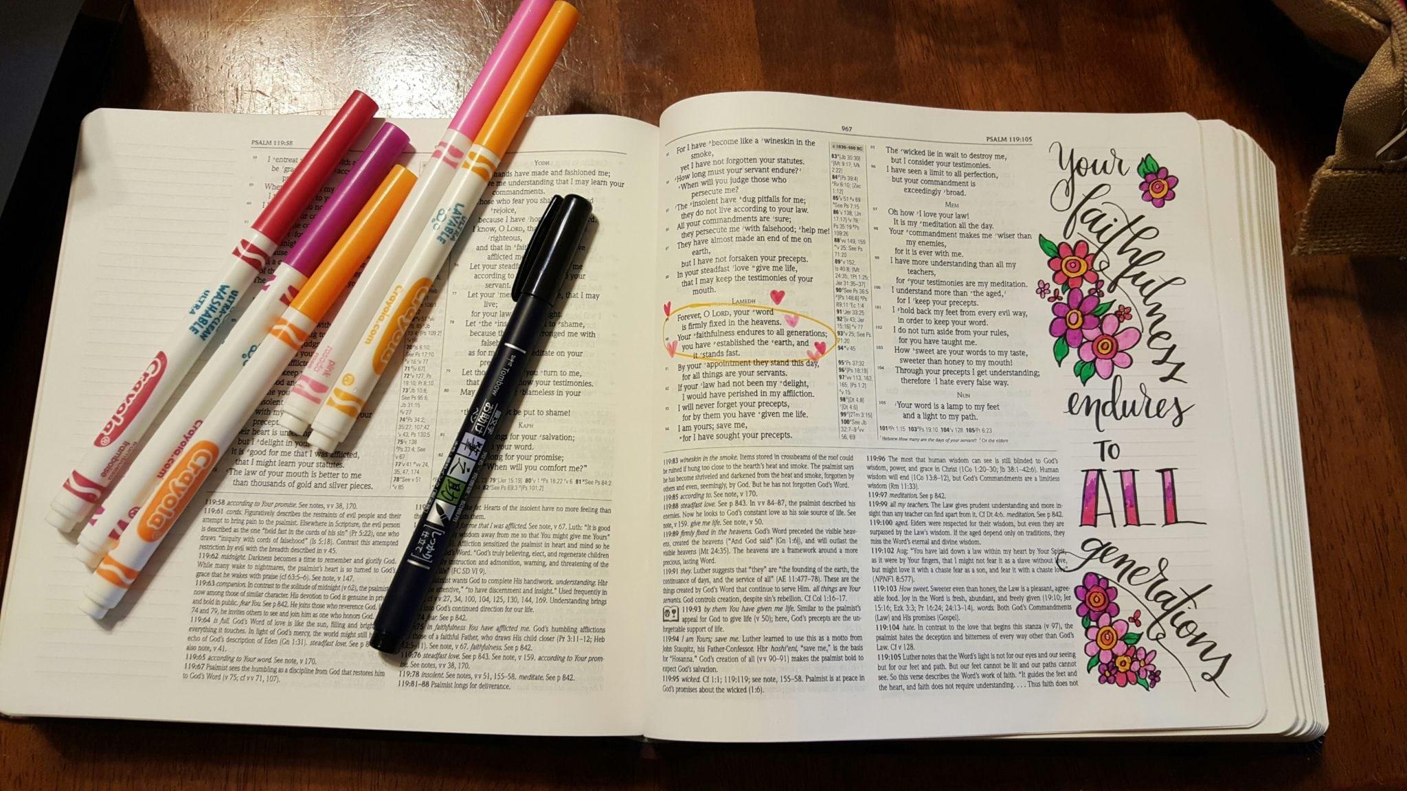 Jamie Truwe - Bible Journaling