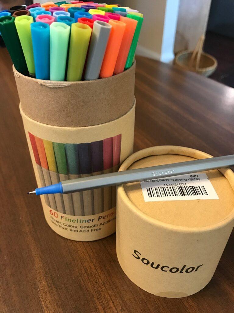 Soucolor Fine Tip pens