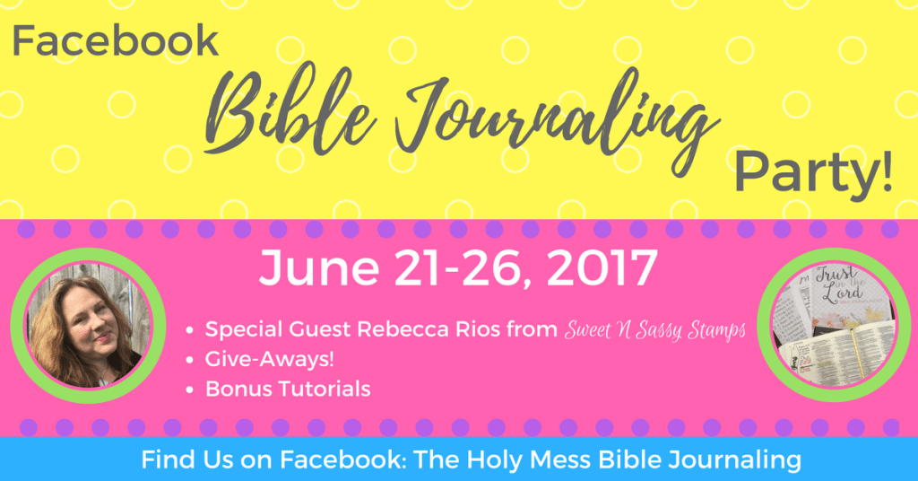 Facebook Bible Journaling Party|The Holy Mess