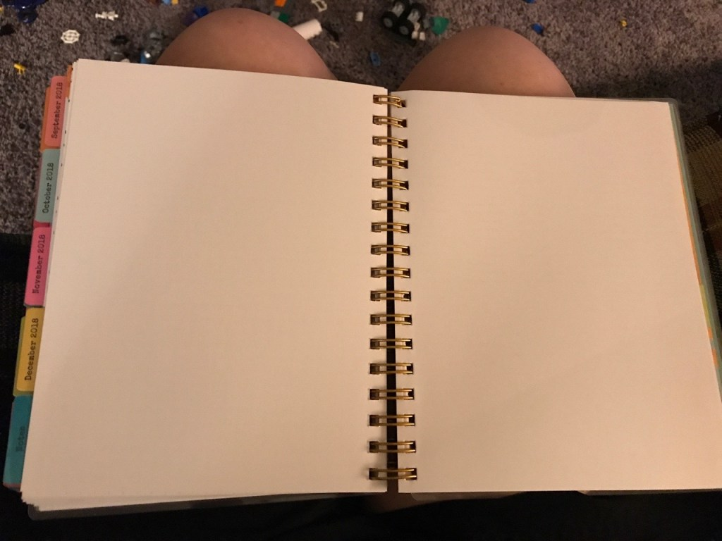 Agenda Planner space for notes in the back