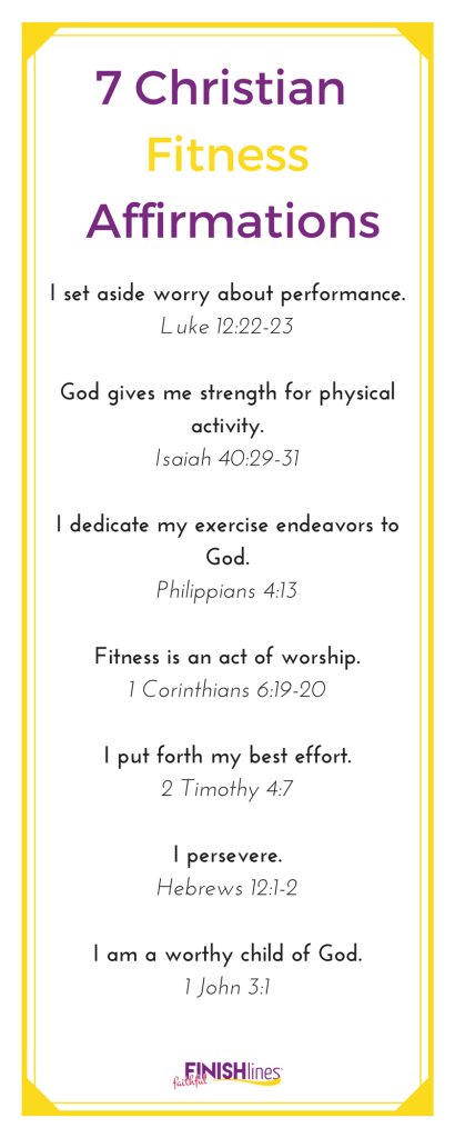 7 Christian Fitness Affirmations|The Holy Mess
