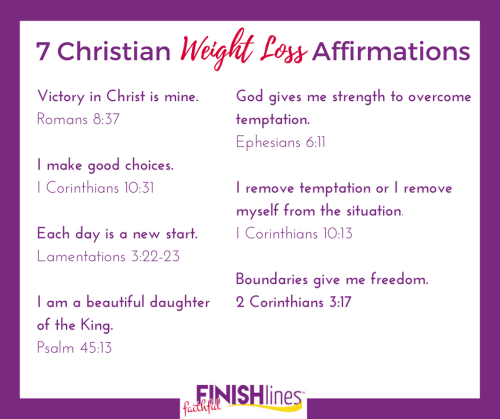 7 Christian Weight Loss Affirmations