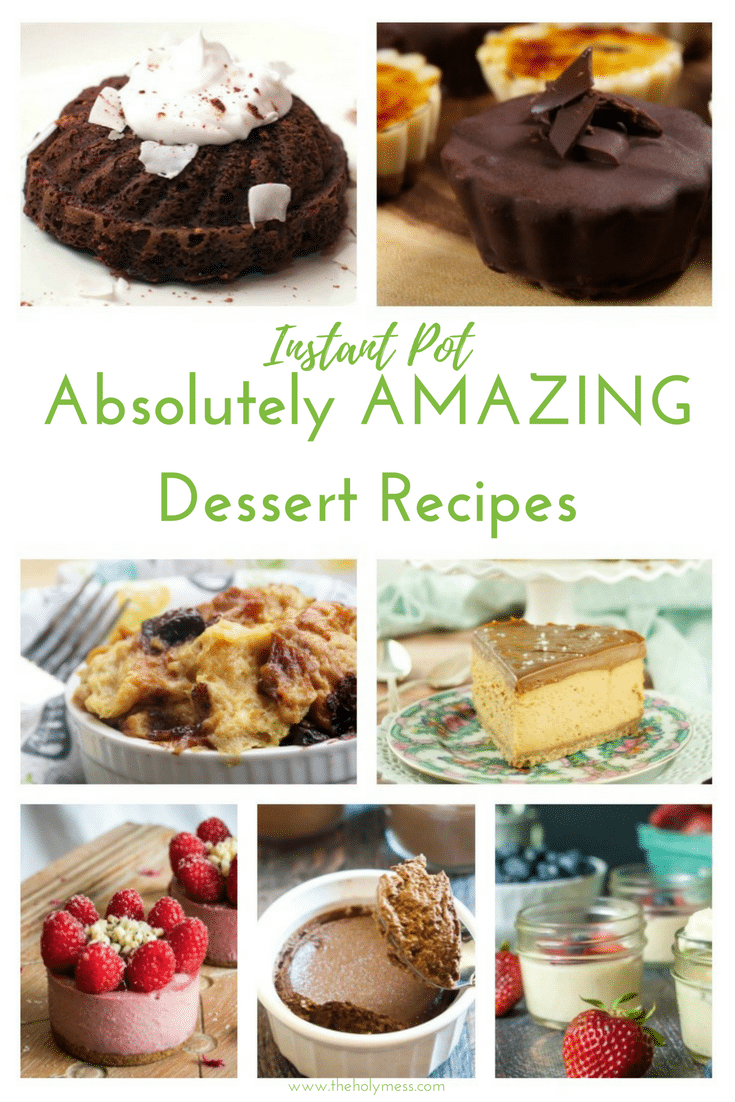 Instant Pot Absolutely Amazing Dessert Recipes|The Holy Mess