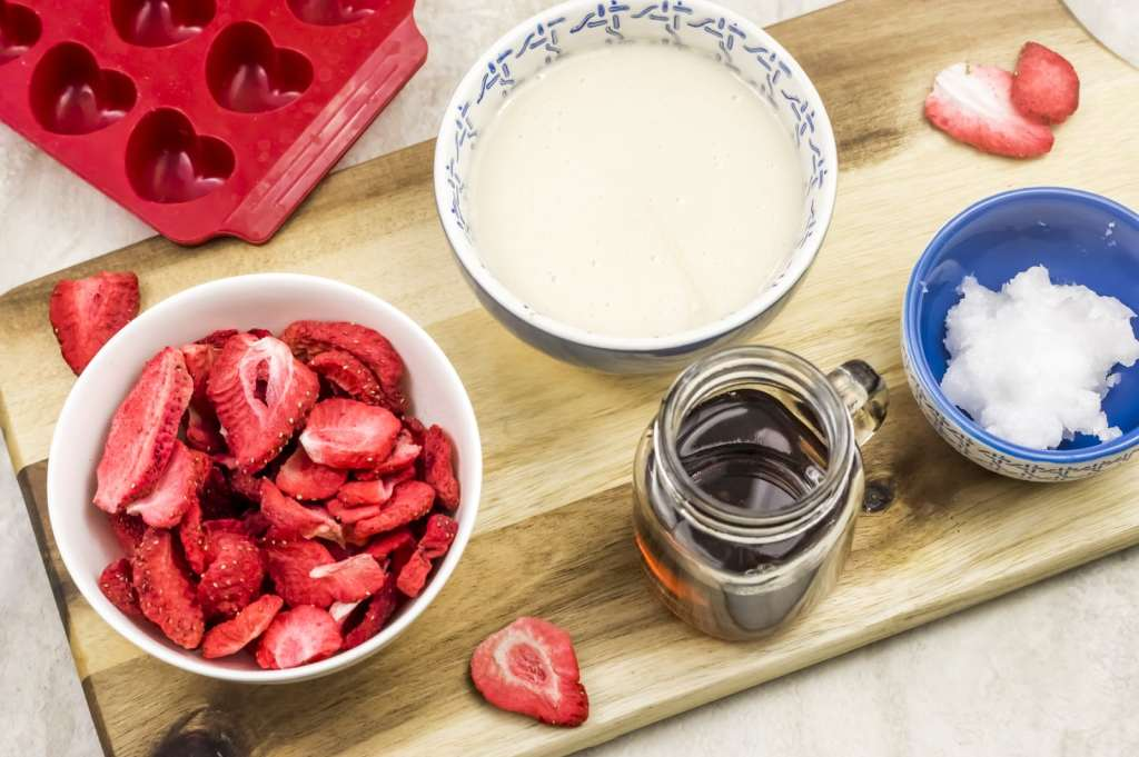 Paleo Strawberry Heart Fudge