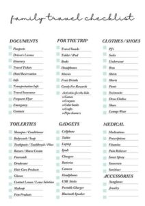The Holy Mess Free Printable Family Travel Planner