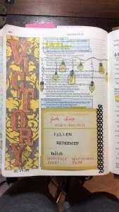 Bible journaling with tip Isaiah 43
