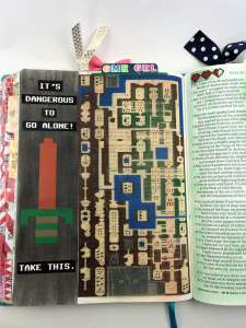 Bible journaling with tip ins Psalm 18