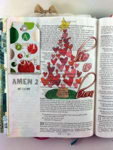 Bible journaling with tip ins Romans 9