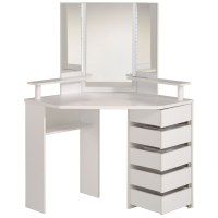 Corner Dressing Table | Parisot Beauty Bar Corner Dressing ...