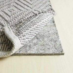 RUGPADUSA Basics 100% Felt Rug Pad - 8x10 Rug Pad for Hardwood Floors