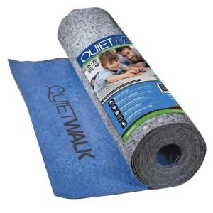 QuietWalk Laminate Flooring Underlayment with Attached Vapor Barrier & Sound Reduction