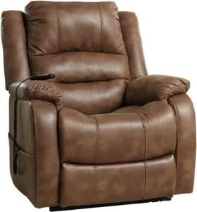 Ashley Yandel Contemporary Power Lift Oversized Recliner Saddle for Elderly, Dual Motor - Best power reclining sofa
