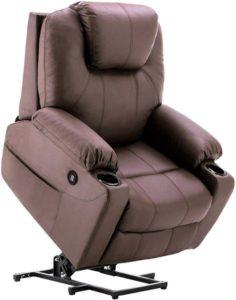 Mcombo Electric Power Lift Recliner Sofa - Best Power Recliner with Heat and Massage