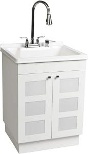 LDR 7712CP-SD Laundry Utility Cabinet Sink Vanity - Best Small Bathroom Vanity Sink Combo