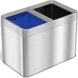 Best iTouchless Dual Compartment Slim Open Top Waste Bin