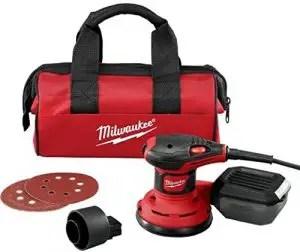 "Milwaukee 6034-21 5"" Random Orbit Palm Sander with Dust Extraction"