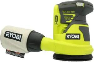 Ryobi P411 Cordless Random Orbit Power Sander with Dust Extraction Bag