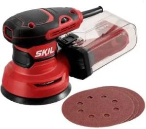 "SKIL 5"" Random Orbital Sander - Corded Electric Hand Sander with Cyclonic Dust Box"