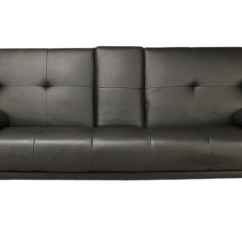 Sofa Bed Black Faux Leather Starship By Pillow Kingdom Vienna The Home Furniture Store