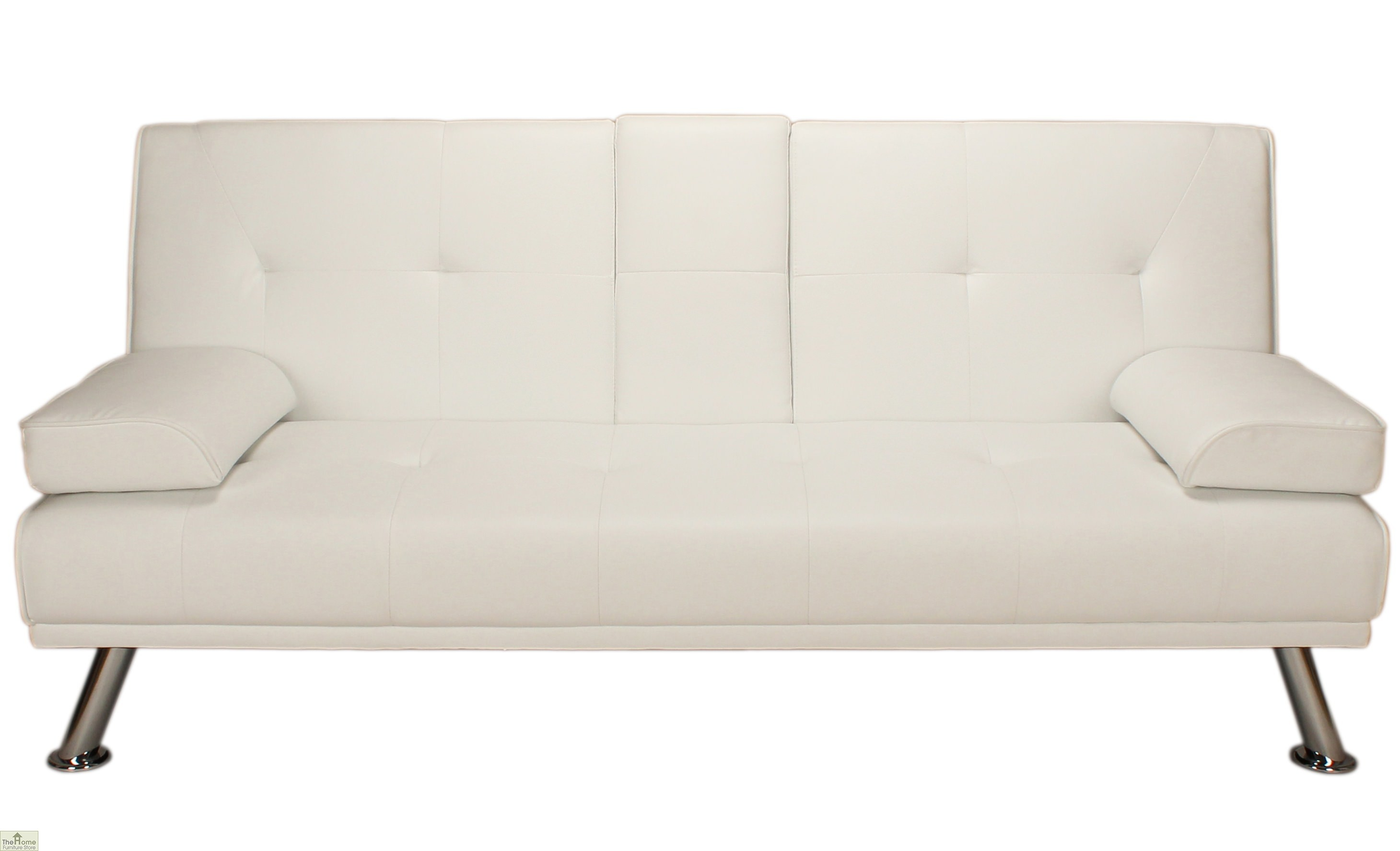 white and black sofa bed navan factory done deal vienna faux leather the home furniture store