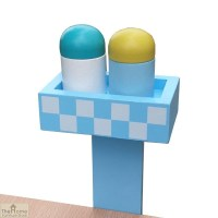 Blue Wooden Table Top Toy Kitchen | The Home Furniture Store