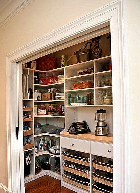 kitchen pantries black countertops 适合各种生活方式的厨房茶几 节省空间的口袋门非常适合走廊的茶水间 图片 marie newton灵感来自壁橱