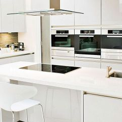 Paint Kitchen Cabinets White No Touch Faucet 10个惊人的现代厨柜风格 白色漆厨柜为您的现代厨房提供干净 有光泽的外观 图像来源 Blenture