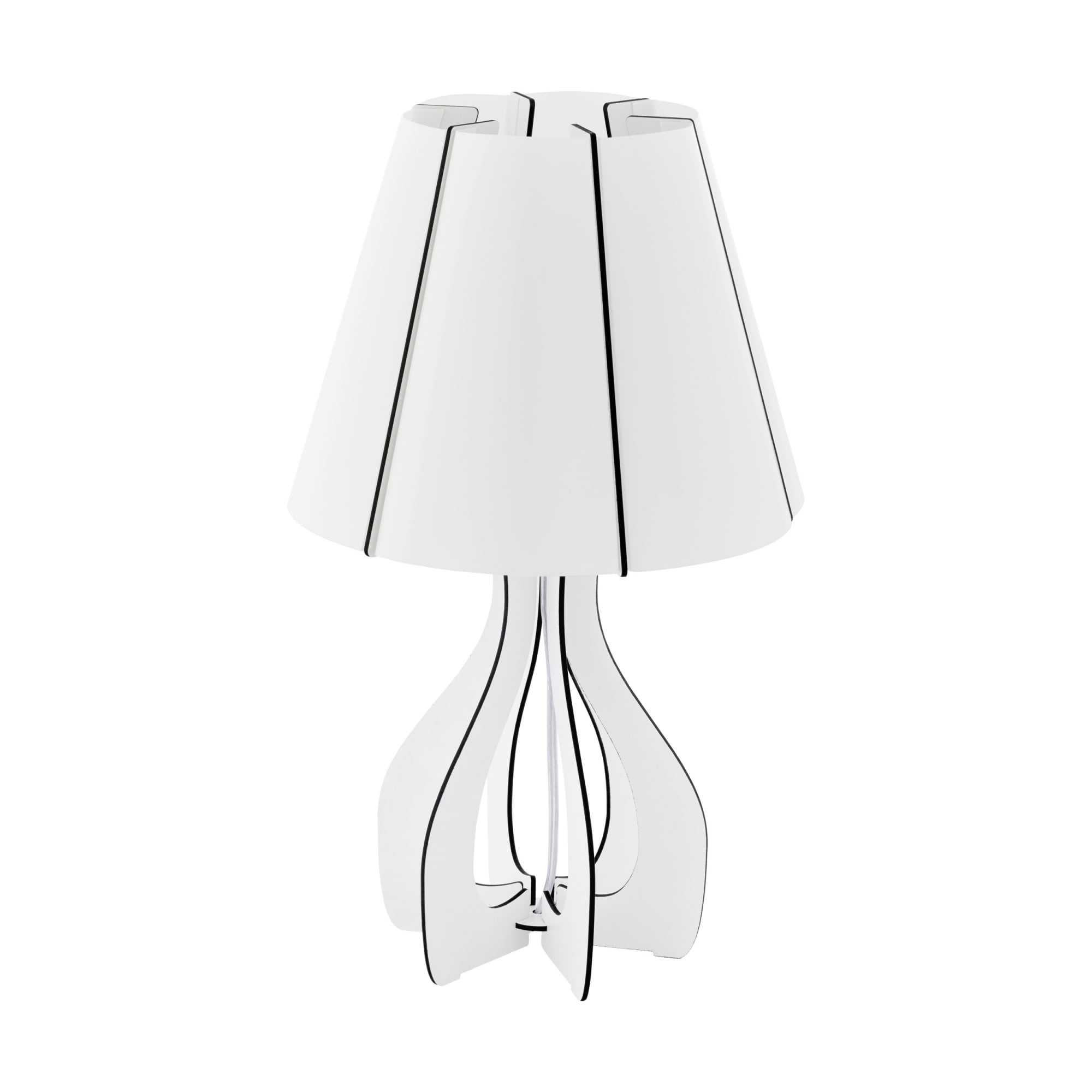 Eglo Lighting Cossano Contemporary Table Lamp With White Wooden Base 94947 Lighting From The Home Lighting Centre Uk