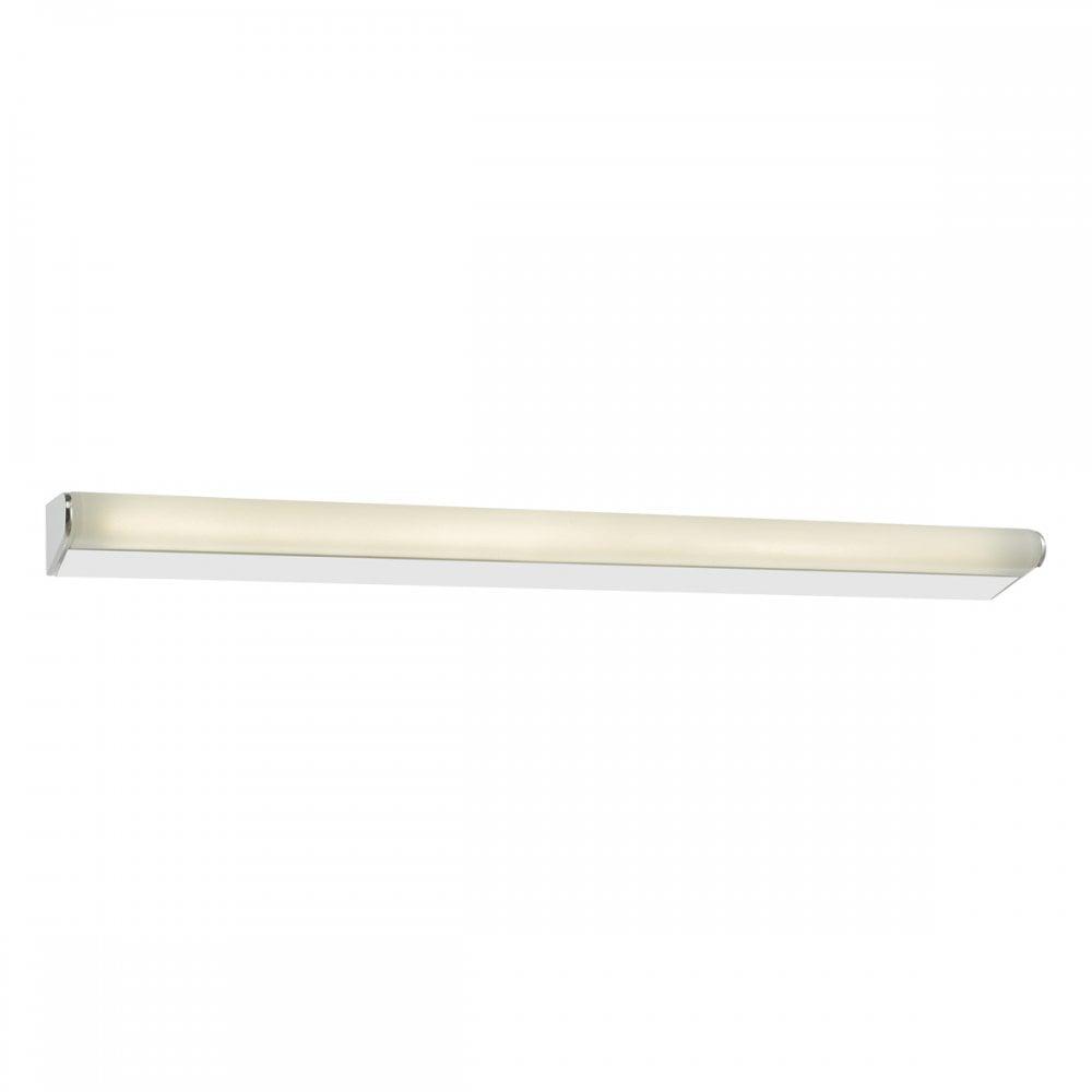 dar lighting lika bathroom above mirror led wall light in polished chrome finish lik5950