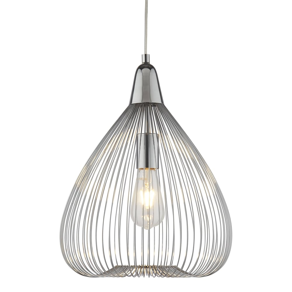 hight resolution of searchlight pumpkin single wire cage ceiling pendant light in chrome pumpkin single wire cage ceiling pendant