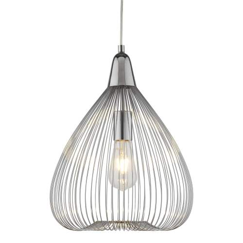 small resolution of searchlight pumpkin single wire cage ceiling pendant light in chrome pumpkin single wire cage ceiling pendant
