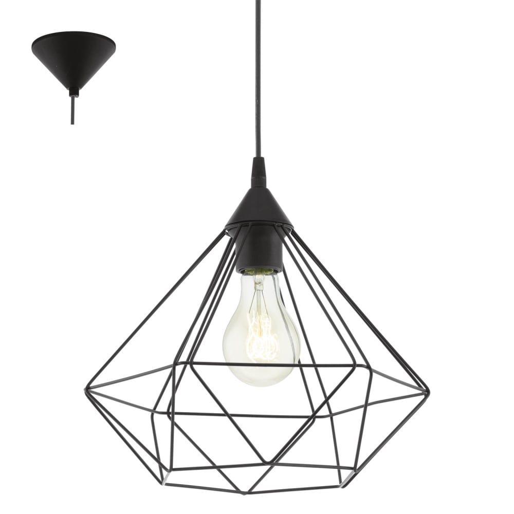 Eglo Lighting Tarbes Vintage Ceiling Pendant Light In