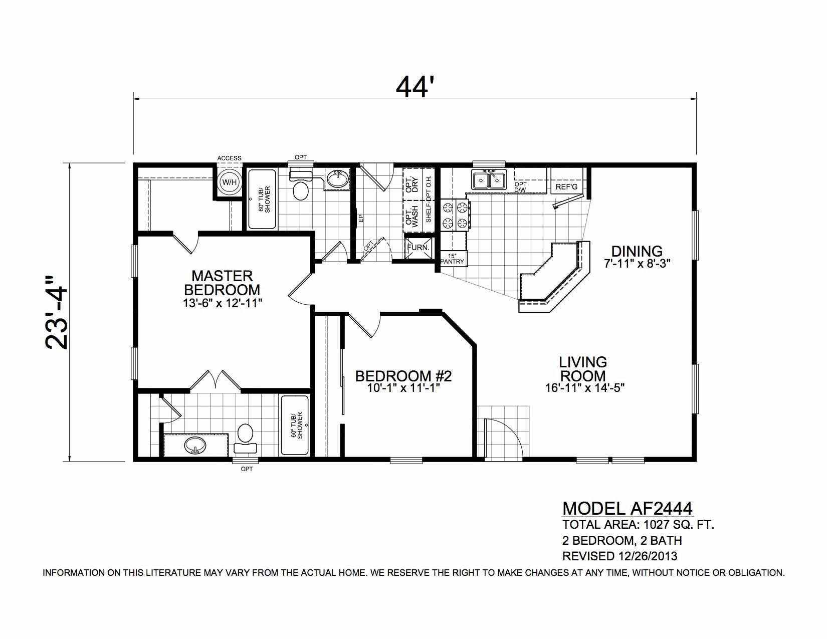Champion Arizona 2 Bedroom Manufactured Home Dawson for