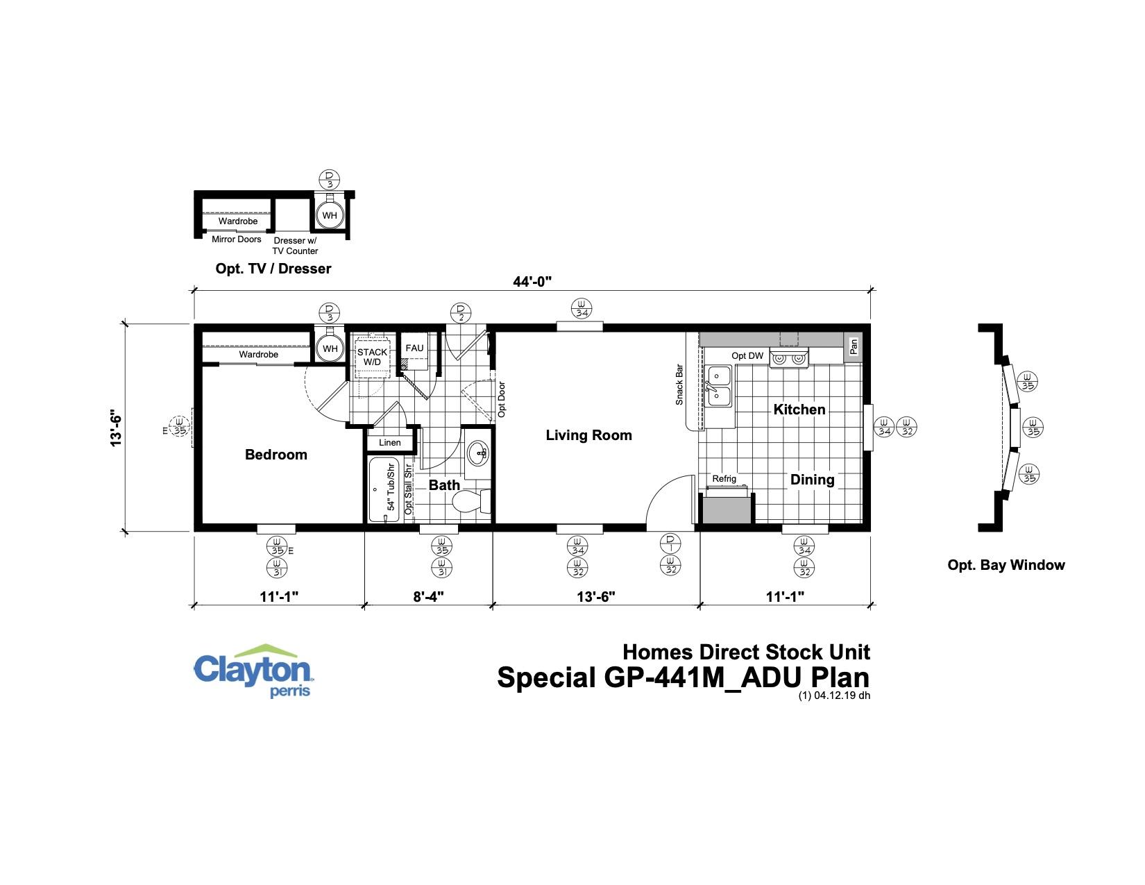 Golden West (Perris, CA) 1 Bedroom Manufactured Home