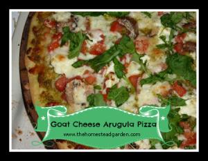 Goat Cheese Arugula Pizza