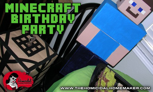 A Very DIY Minecraft Birthday Party
