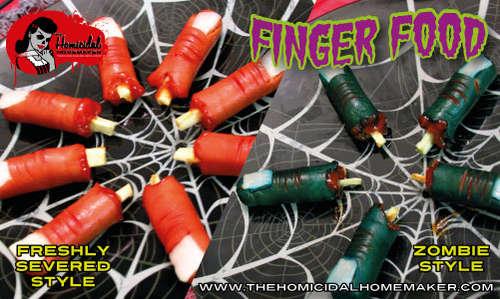Zombie Finger Food