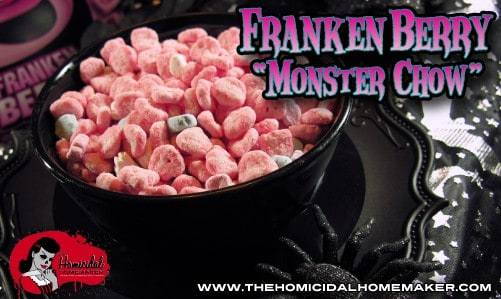 Frankenberry Monster Chow – A Sweet & Spooky Twist on a Classic!